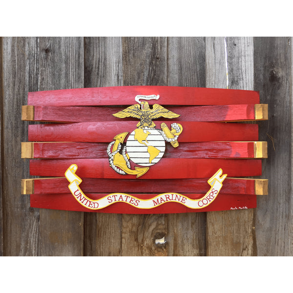 Marine Flag Barrel Art