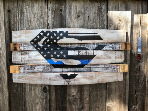 Superman Thin Blue Line American Flag