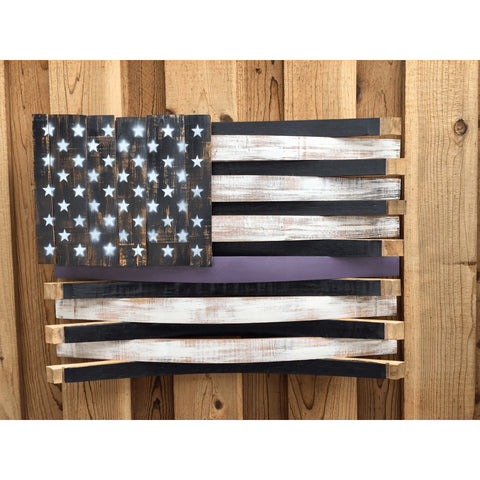 Epilepsy Awareness Oak Barrel American Flag