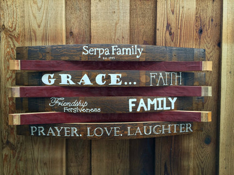 Christian Family Barrel Art