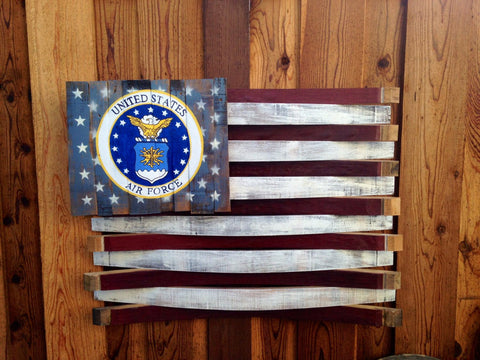American Air Force Oak Barrel Flag