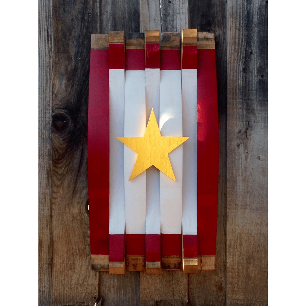 Gold Star Service Oak Barrel Flag