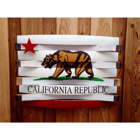 California Republic Barrel Flag
