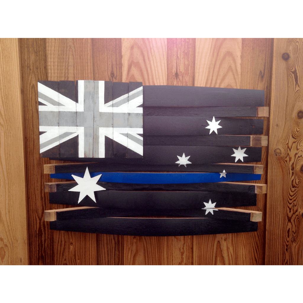 Australia Thin Blue Line Barrel Flag