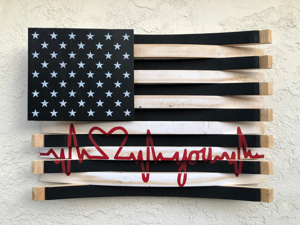American Heartbeat Flag