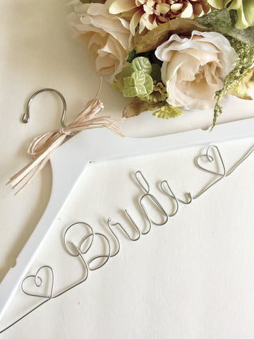 Handcrafted wedding hanger for the bride or bridal party