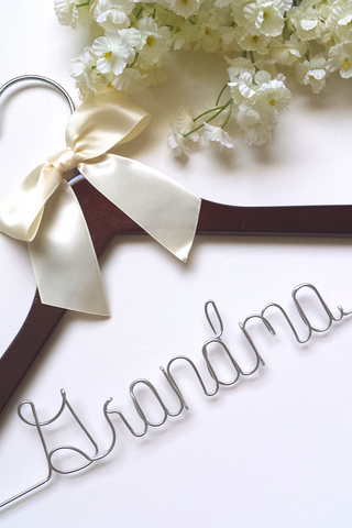 Grandma wedding day hanger
