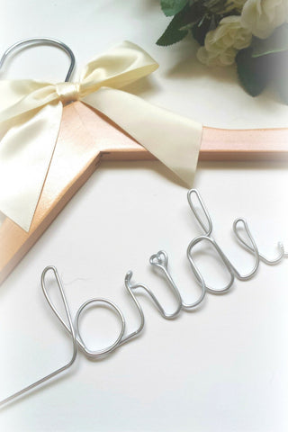 Bride's wedding dress hanger