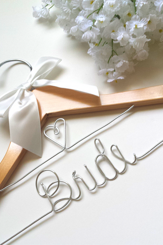 Bridal wedding dress hanger