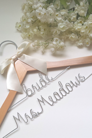 Custom two-tier bridal wedding hanger - Fast shipping