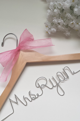 Custom bridal wedding hanger