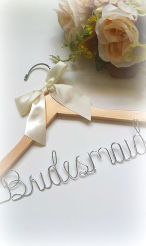 Unique handcrafted bridesmaid hanger - Fast shipping