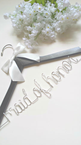 Maid of honor wedding hanger