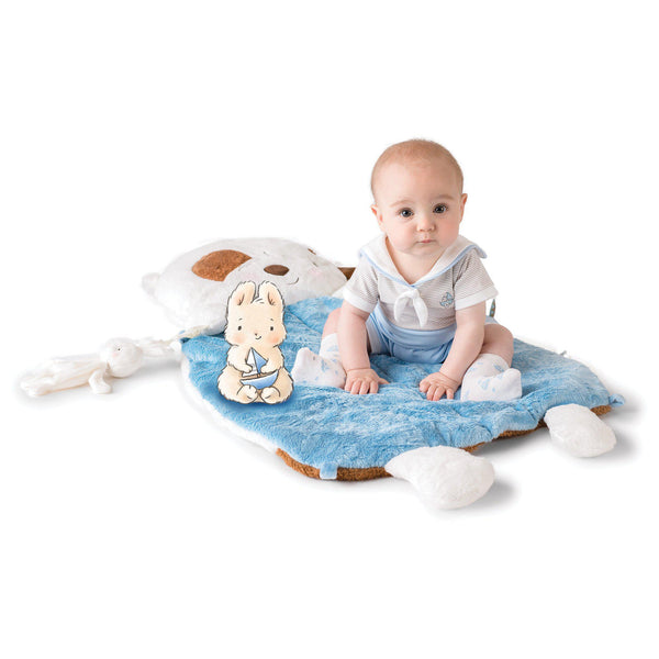 Bunnies by the Bay Tummy Time Nap Mat (Boys)