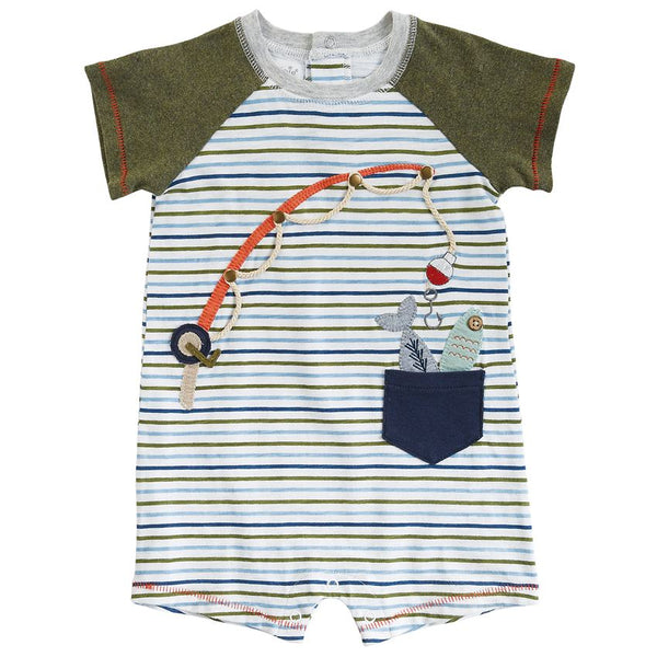 "Mudpie ""Gone Fishing"" Cotton Shortall"