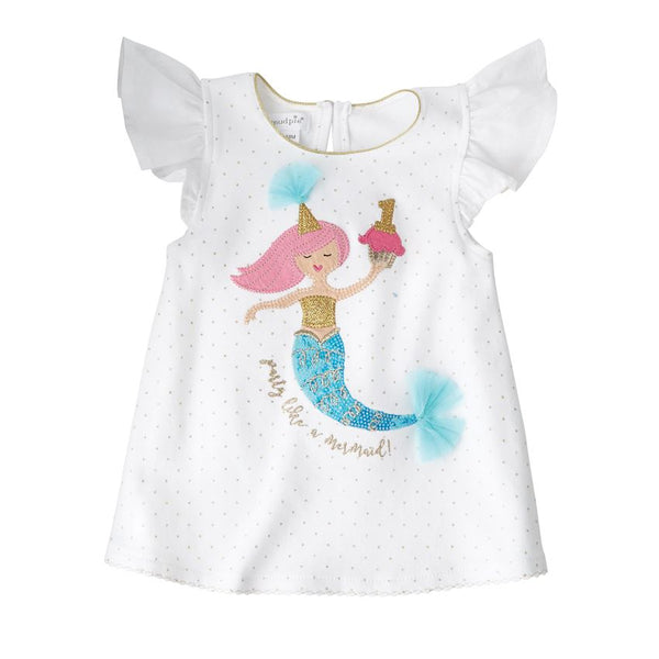 Mudpie Party Like a Mermaid Birthday Shirt
