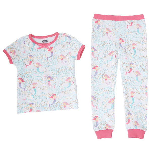 Mudpie Mermaid Print Two-Piece Pajama Set