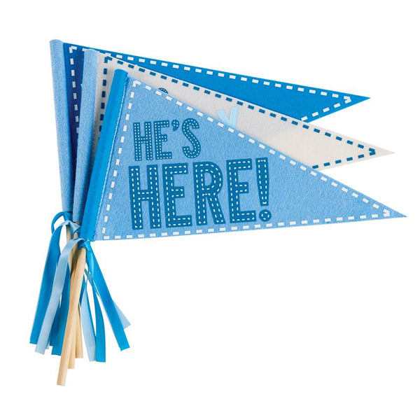 Mudpie Little Brother Blue Felt Pennant Set