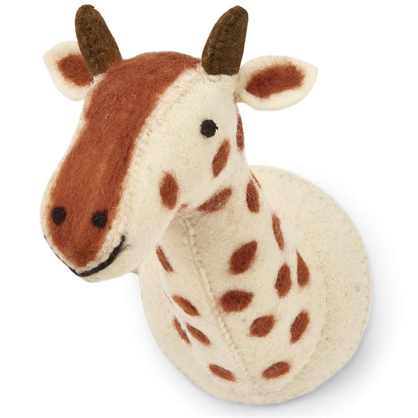 Mudpie Mini Safari Giraffe Wool Wall Mount