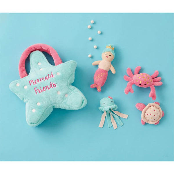 Mudpie Mermaid Friends Plush Play Set