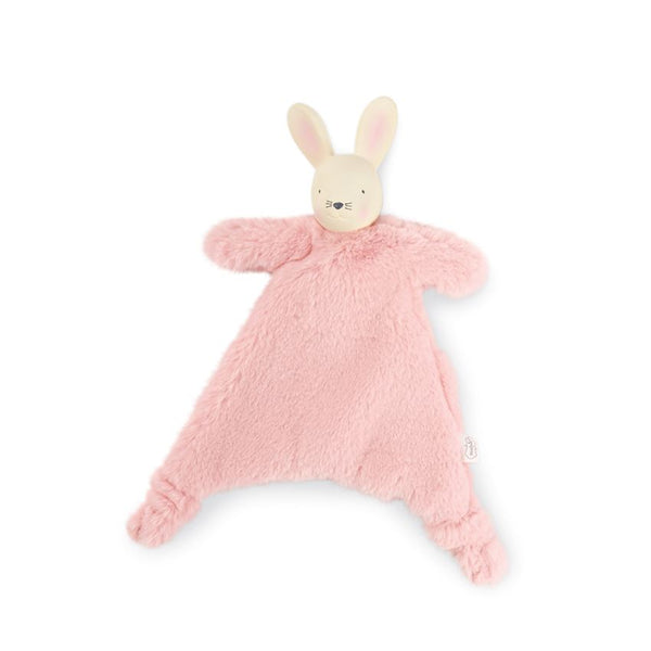 Mudpie Pink Bunny Lovie Teether