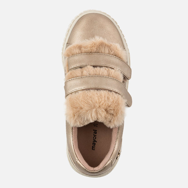 Mayoral Fur Sneakers