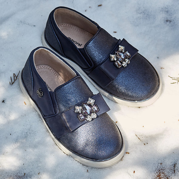 Mayoral Jewel Embellished Navy Sneaker