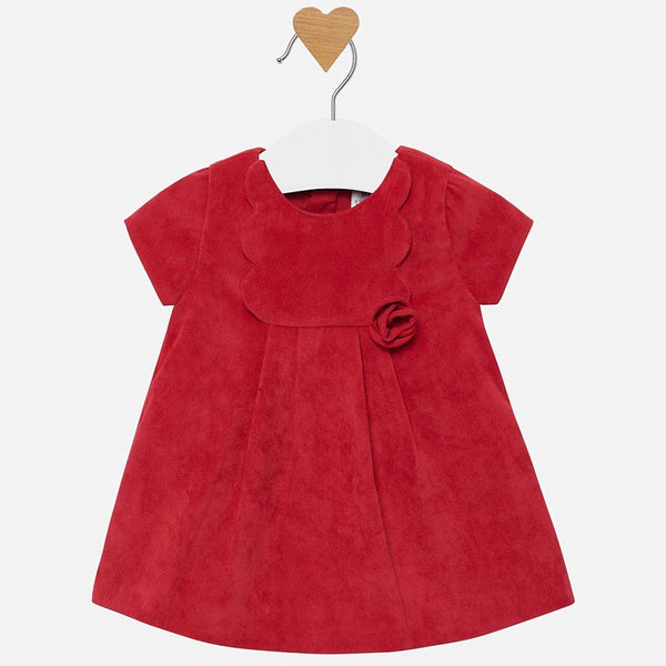Mayoral Corduroy Dress with Rosette Detail