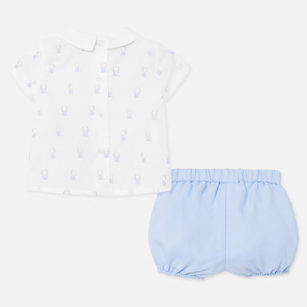 Mayoral Bunny Print Two Piece Set