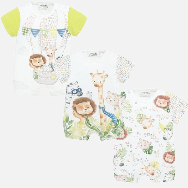Mayoral 3 Pack Romper Set-Jungle Theme