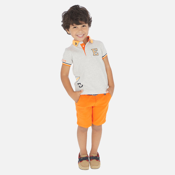 Mayoral Pique Belted Bermuda Short