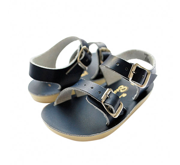"Sun San ""Sea Wee"" Navy Sandals"