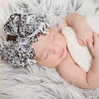 In Awe Couture Black/White Striped Headband