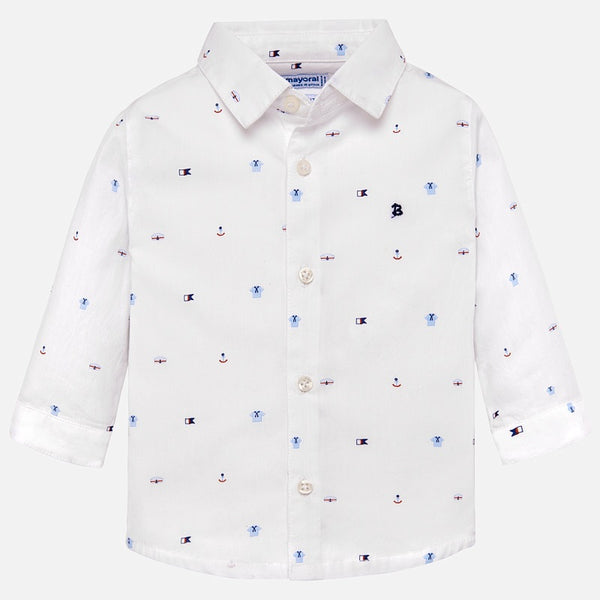 Mayoral Sailor Themed Long Sleeved Shirt