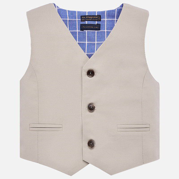 Mayoral Linen Dress Vest