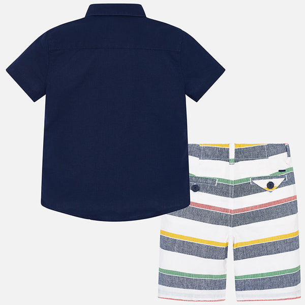 Mayoral Nautical Stripe Shorts Set