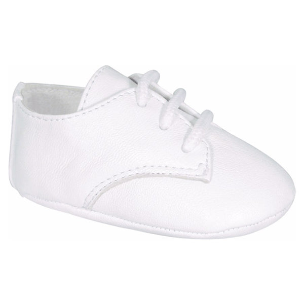 Baby Deer White Oxford Crib Shoe
