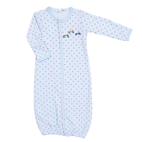 Magnolia Baby Race Car Embroidered Converter/Gown