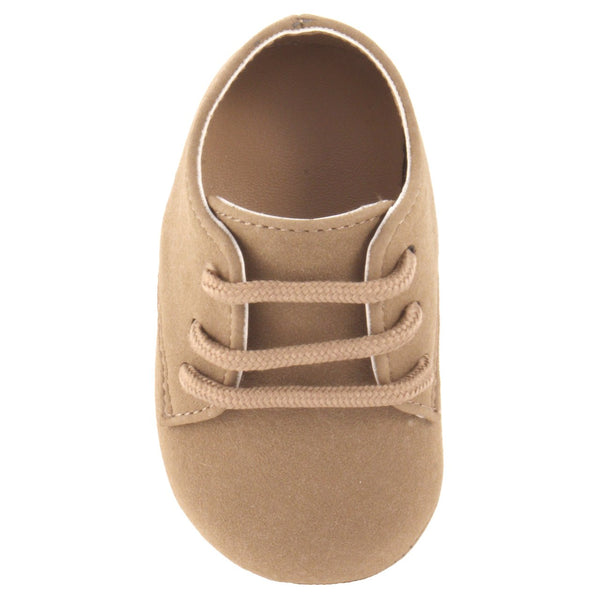 Baby Deer Suede Oxford Bucs Crib Shoe