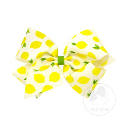 Wee Ones Lemon Print Bow (King size)