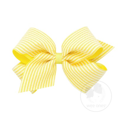 Wee Ones Yellow Seersucker Bow (King size)