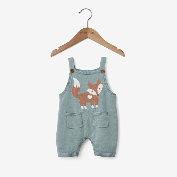 Elegant Baby Fox Knit Overall