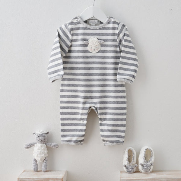 Albetta Striped Lamb Romper