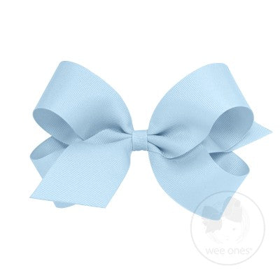 Wee Ones Grosgrain Bow in Light Blue