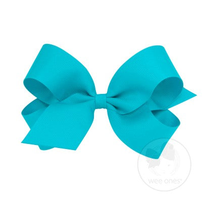 Wee Ones Grosgrain Bow in Navajo Turquoise (King Size)