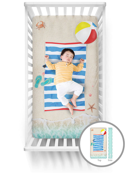 Luvsy Crib Sheet-Beach Scene