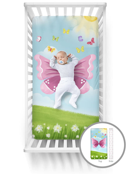 Luvsy Crib Sheet-Butterfly