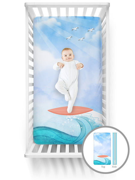 Luvsy Crib Sheet-Surfer
