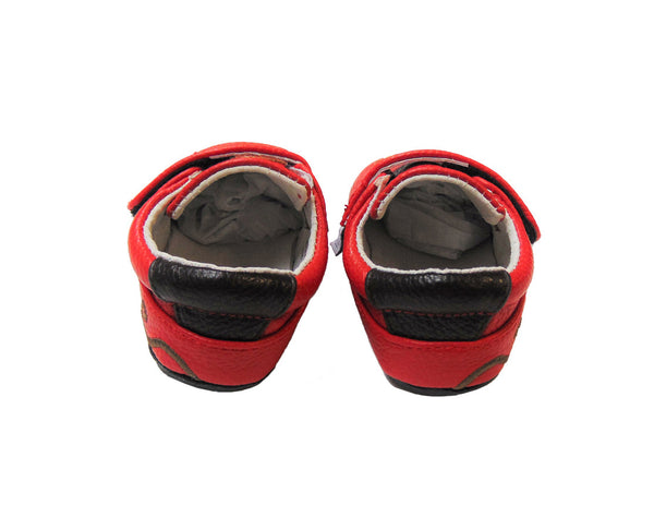 Jack & Lily Shoe - Rubber Sole Red Leather Monkey Shoe