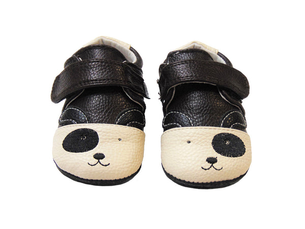Jack & Lilly Shoe - Rubber Sole Leather Puppy Dog Shoe in brown